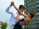Couple dancing Latino dance — Stock Photo