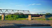 Industrial bridge — Stock Photo