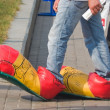 Foto Stock: Clown shoes