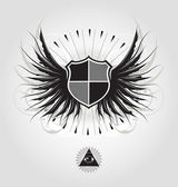 Heraldic shield — Stock Vector