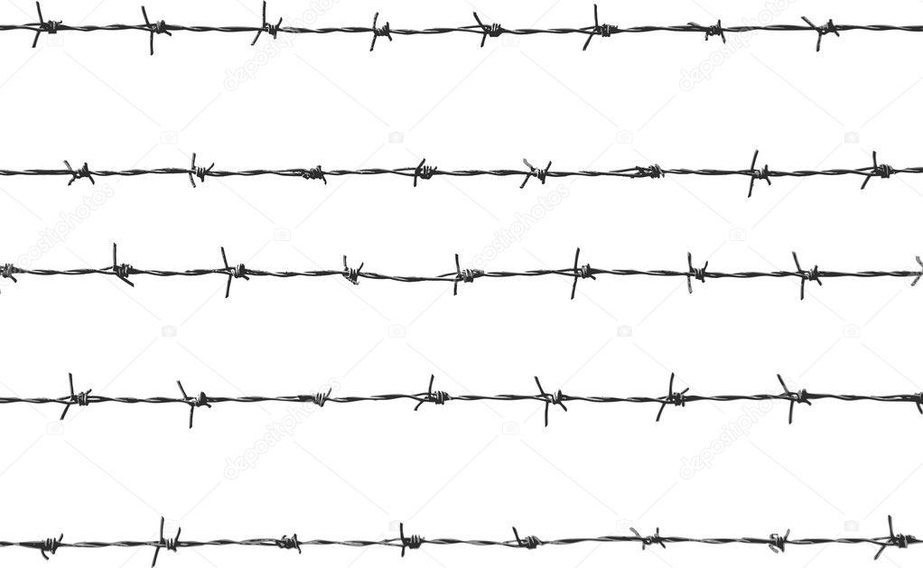 Five pieces of barbed wire — Stock Vector #1053138