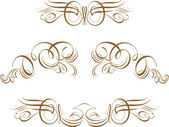 Ornate Scroll Vector — Stock Photo