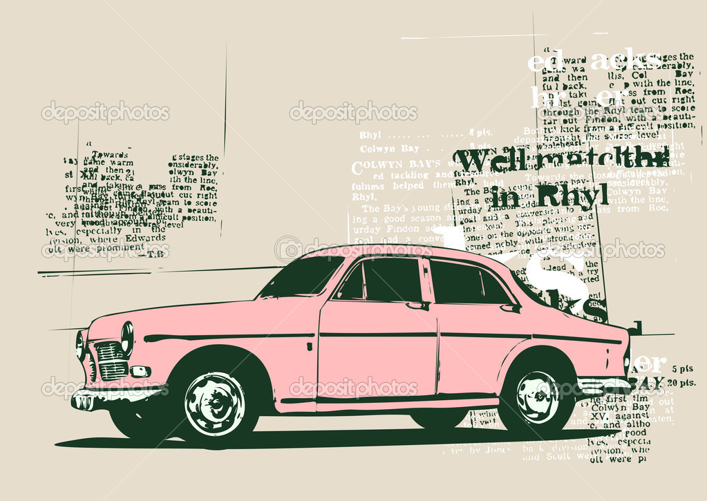 vintage cars art