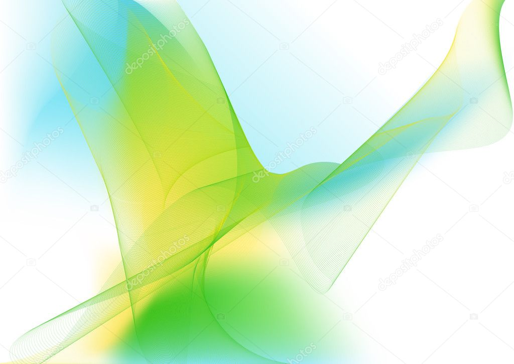 Illustration - abstract background made of color splashes and curved lines  Stock Photo #1077784