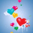 Colorful hearts Background — Stock Photo