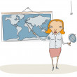 Geography teacher — Stock Photo