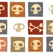 Funny skulls - Stock Photo