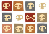 Funny skulls — Stock Photo
