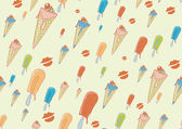 Cool hand-drawn ice creams — Stock Photo