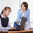 Royalty-Free Stock Photo: Two female in office