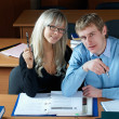 Stock Photo: Two student in classroom