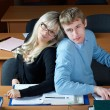 Two student in classroom — Stock Photo #1353008