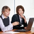 Two female in office — Stock Photo