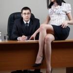 Businessman with secretary — Stock Photo