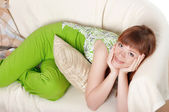 A charming young woman — Stock Photo