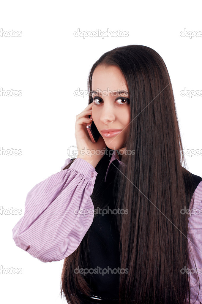 Beautiful young brunette student girl — Stock Photo #2357141