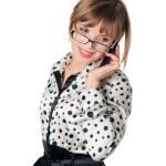 sevimli genç iş kadını — Stok fotoğraf