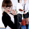 The young business woman — Stock Photo