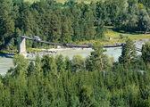 Pendant bridge. — Stock Photo