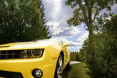 Yellow Camaro — Stock Photo