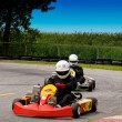 Go-kart Action - Stock Photo