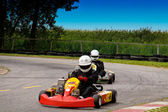 Go-kart Action — Stock Photo
