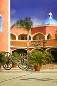Hacienda Courtyard — Stock Photo