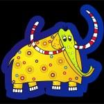 Yellow Elephant — Stock Photo #1045845