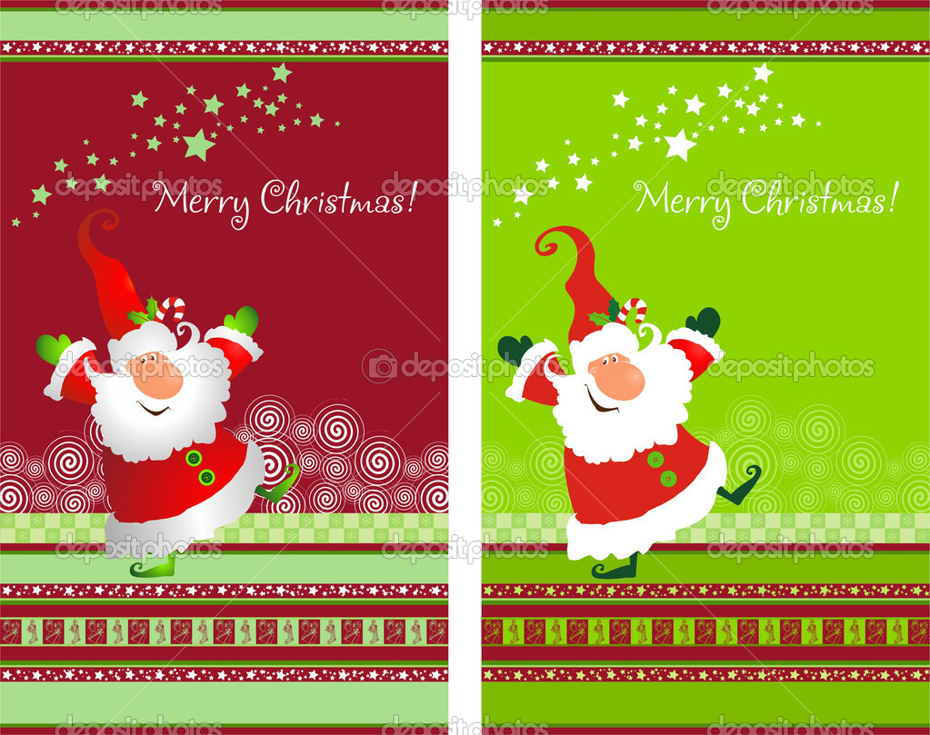 Christmas Card, Santa,Decor Santa Claus  Stock Photo #1045848