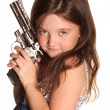 Royalty-Free Stock Photo: Girl with a gun