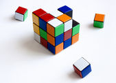 Cube of rubik puzzle. Broken — Stock Photo