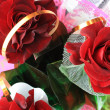 Stock Photo: Roses bouquet. View from top.