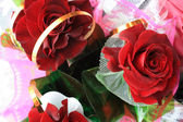 Roses bouquet. View from a top. — Stock Photo