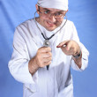 Royalty-Free Stock Photo: Crazy doctor