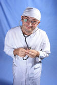 Crazy doctor — Stock Photo