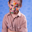 Smudged little painter — Stock Photo #1253374