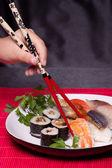 Traditional japanese food - sushi — Stock Photo