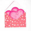 Stock Photo: Pink packet with gift for Valentine