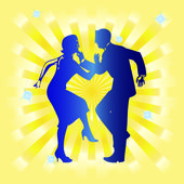 Dancing couple. — Stock Vector