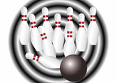 Bowling. — Stock Vector