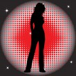 Royalty-Free Stock Imagen vectorial: Vector silhouette of a beautiful woman.