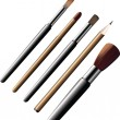 Royalty-Free Stock Vector Image: Cosmetic brushes and pencils.