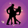 The dancing couple. — Stock Vector