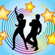 Stock Vector: Dancing couple. Vector.