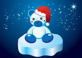 White teddy bear — Vector de stock
