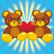 Teddy bear with a heart — Stock Vector