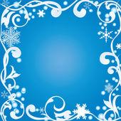 Abstract winter frame — Stock Vector