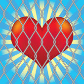 векторные сердца для сетка заборная. — Cтоковый вектор