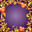 Vector de stock : Abstract frame with hearts.