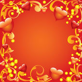 Abstract frame with hearts. — Stock Vector